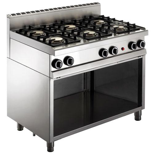 Cucina a gas 6 fuochi su vano a giorno - Cucina 6 fuochi ...