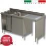 Lavello armadiato Inox due vasche